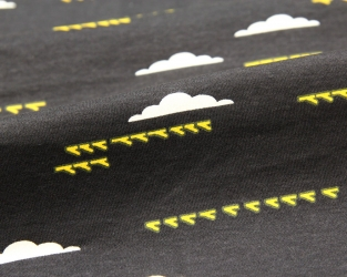 Birds and Clouds, Interlock, organic cotton